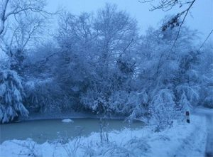 Dunsmore Pond in the snow