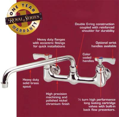 krowne commercial faucets and sinks