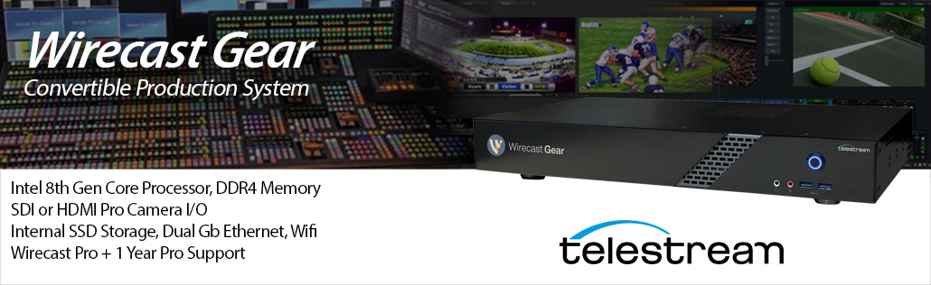Wirecast Gear Computer for Live Streaming