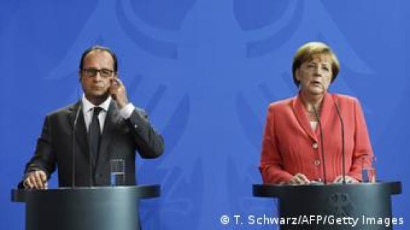 Deutschland Francois Hollande und Angela Merkel PK in Berlin