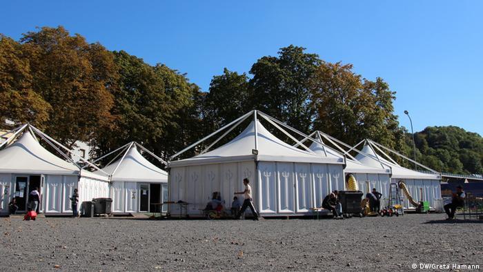 Flüchtlingslager in Deutschland (Foto: DW)