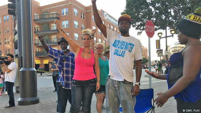 USA Black Lives Matter Trauer in Dallas Marcus Carter