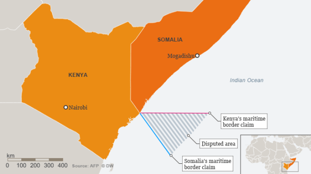 Info-graphic: A maritime border conflcit between Kenya and Somalia