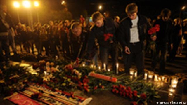 Trauer nach Flugzeugabsturz in Russland (picture-alliance / dpa)