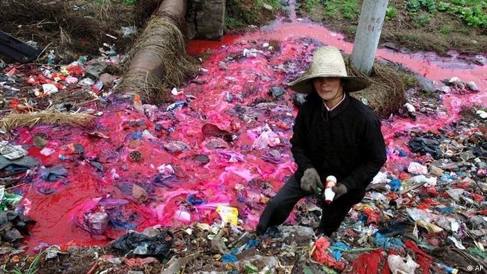Wasserverschmutzung in China (AP)