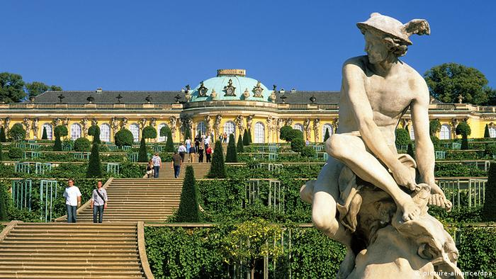 Germany Architecture as Sanssouci Palace in Potsdam