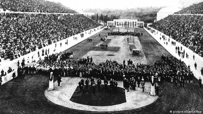 Opening ceremony of the first modern Olympic Games, Athens 1896, Copyright: picture-alliance/dpa