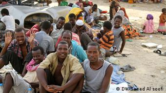 Jemen afrikanische Migranten in Harad (DW/Saeed Al soofi)