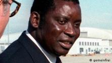 Le défunt président du Togo, Gnassingbé Eyadéma lors d'une visite officielle à Washington le 28 octobre 1983