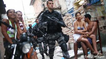 Brazilian military police in a Rio favela (Getty Images)