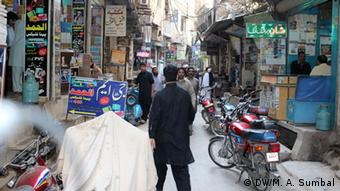 A street view of Jhangi Mohalla in Peshawar