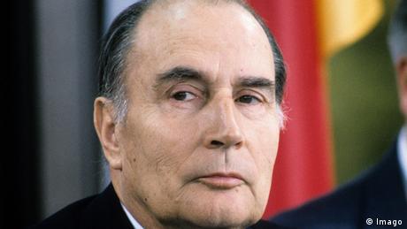 Frankreichs ehemaliger Präsident Francois Mitterrand