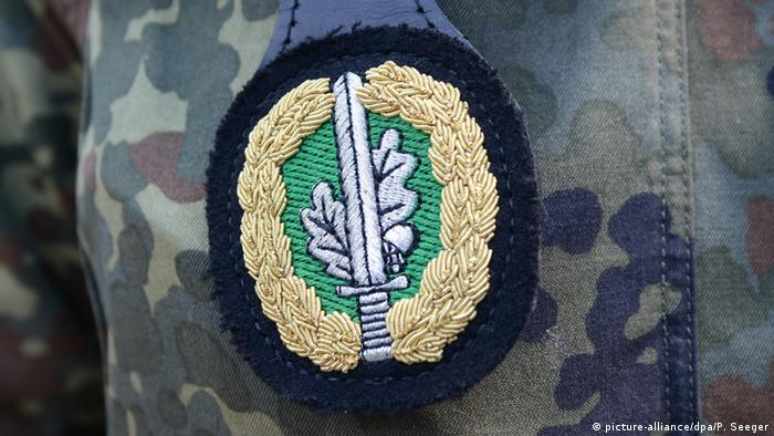 The badge of the KSK Special Forces Commando of the German army