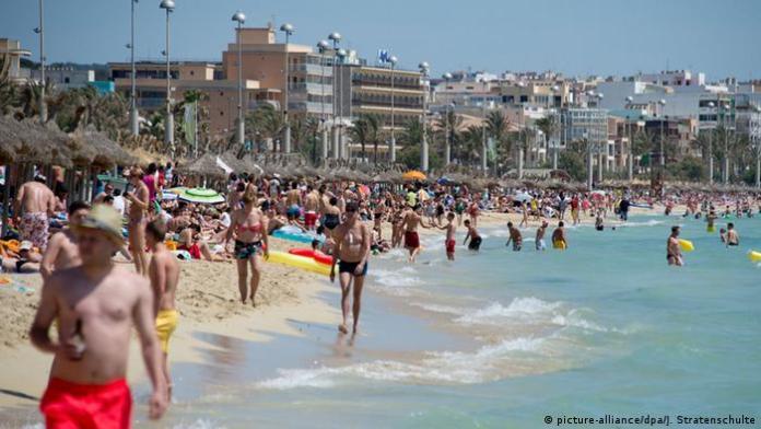 Mallorca, turisti na plaži