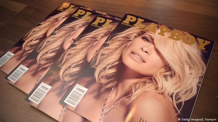 Playboy cover from July 2015 Getty Images/J. Kempin)