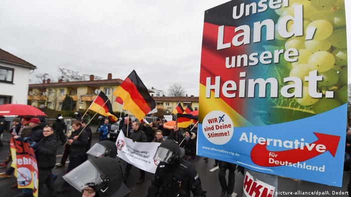 Deutschland Pegida Demonstration in Mainz (picture-alliance/dpa/A. Dedert)