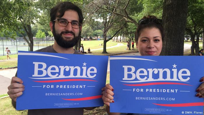 Supporters of Bernie Sanders in 2016 (DW/H. Flores)