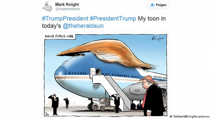 Donald Trump cartoon (Twitter/@Knightcartoons )