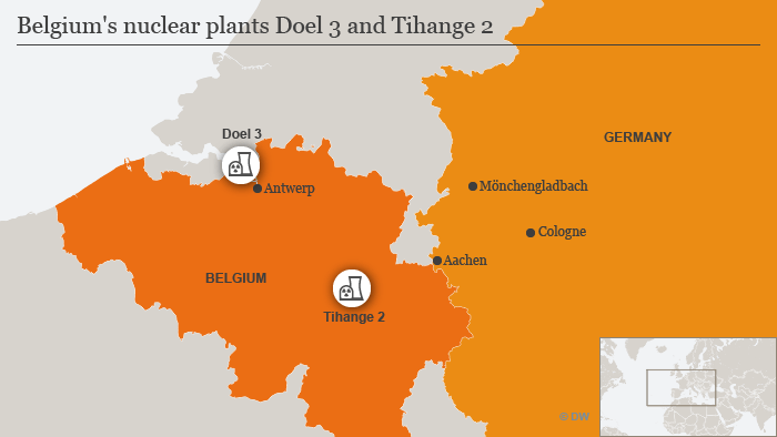 Nuclear plants Doel 3 and Tihange 2