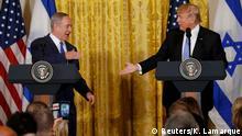 USA Israel | Benjamin Netanjahu bei Donald Trump in Washington (Reuters/K. Lamarque)