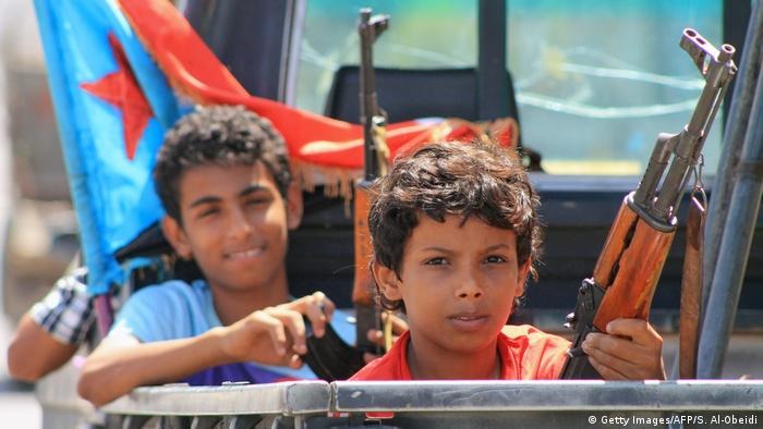 Yemen Kindersoldaten in Aden (Getty Images/AFP/S. Al-Obeidi)