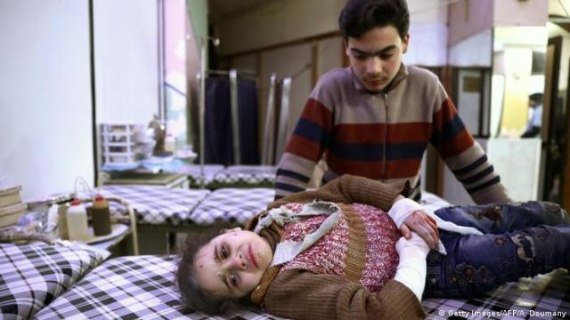 Syrien - Kinder im Krieg (Getty Images / AFP / A. Doumany)