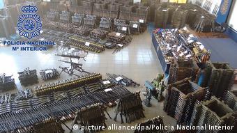 Riesiges Waffenarsenal in Spanien ausgehoben (picture alliance/dpa/Policia Nacional Interior)