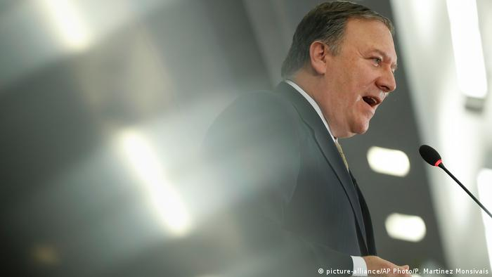 USA Mike Pompeo in Washington (picture-alliance/AP Photo/P. Martinez Monsivais)