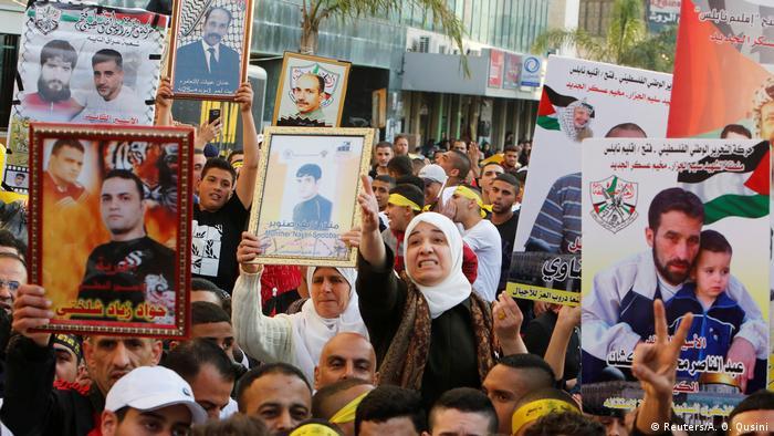 West Bank Proteste am Palästinensischen Gefangenentag in Nablus (Reuters/A. O. Qusini)
