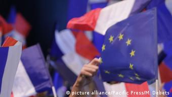 Frankreich Präsidentschaftswahl EU Flagge (picture alliance/Pacific Press/M. Debets)