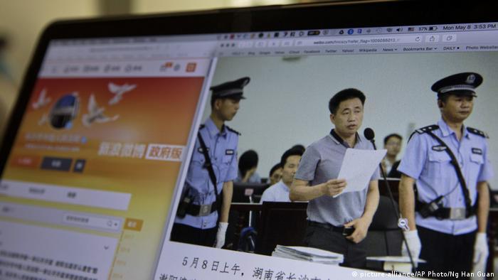 China Xie Yang Menschenrechtsanwalt (picture-alliance/AP Photo/Ng Han Guan)