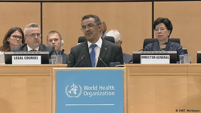 WHO Director General Tedros Adhanom Ghebreyesus (DW/T. Woldeyes)