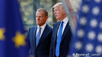 Belgien Tusk empfängt Trump in Brüssel (Reuters/F. Lenoir)