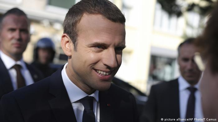 Frankreich Wahlen Macron (picture alliance/AP Photo/T.Camus)