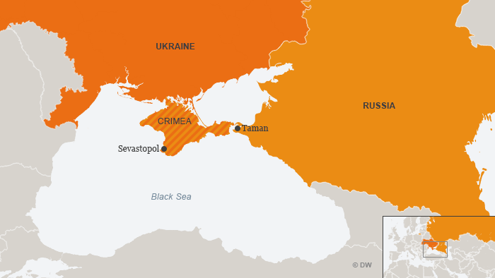 Ukraine Russia Crimea map