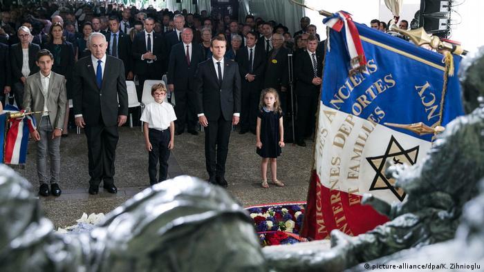 Paris Gedenken Razzia vom Vel d'Hiv (picture-alliance/dpa/K. Zihnioglu)