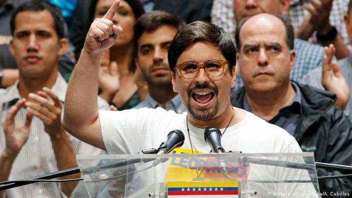 Opposition MP Freddy Guevara in Caracas (picture-alliance/dpa/A. Cubillos)