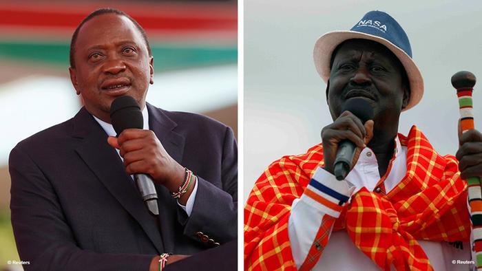 Bildkombo Kandidaten Wahlen Kenia 2017
