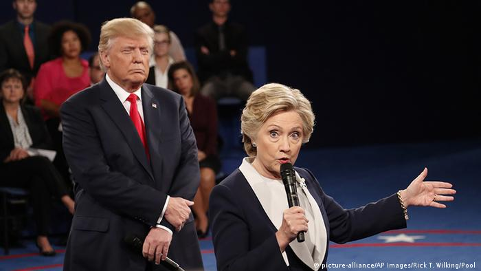 Hillary Clinton und Donald Trump (picture-alliance/AP Images/Rick T. Wilking/Pool )