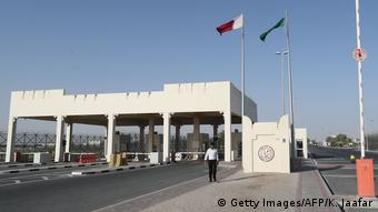 The Qatar side of the Abu Samrah border crossing with Saudi Arabia