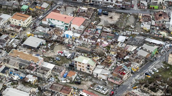Hurricane Irma wrecked havoc on the Dutch Caribbean island of Sint Maarten, leaving behind destroyed buildings