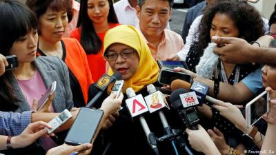 Image result for Anger as Singapore gets first female president without a vote