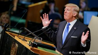 Trump speaking before the UN General Assembly (Reuters/E. Munoz)