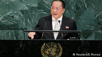 North Korea's foreign minister Ri Yong ho