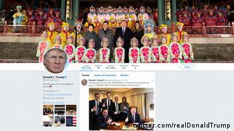 Screenshot of Donald Trump's Twitter account