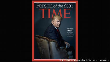 Donald Trump on Time Magazine, Person of the Year (picture-alliance/dpa/EPA/Time Magazine)