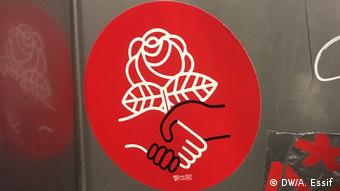 The logo of the Democratic Socialists of America
