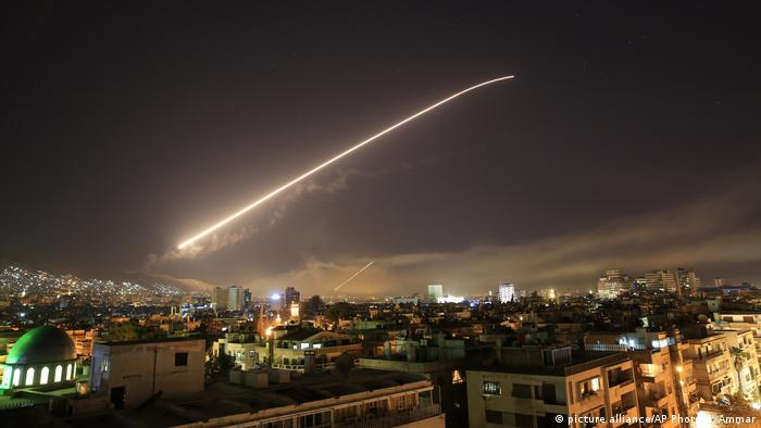 US military strike on Damascus (picture alliance/AP Photo/H. Ammar)