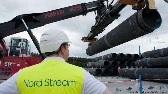 Nord Stream 2-Baustelle in Lubmin (picture alliance / dpa / S. Sauer)