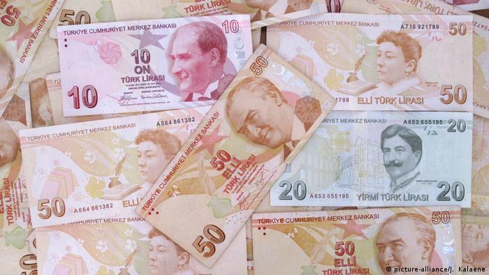 Türkei, Symbolfoto: Währung Türkische Lira (picture-alliance/J. Kalaene)